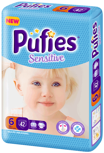 Pufies Sensitive: Package Size 6
